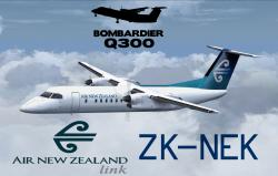 FS2004/FSX Air New Zealand Dash 8 Q300 ZK-NEK