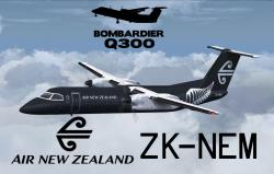 FS2004/FSX Air New Zealand Dash 8 Q300 ZK-NEM