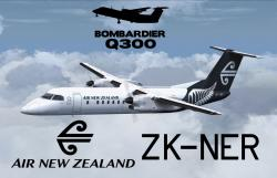 FS2004/FSX Air New Zealand Dash 8 Q300 ZK-NER