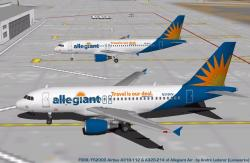 FS98/FS2000 Allegiant Airbus A319 And A320