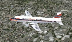 FS2004/FSX Corrected Braniff DC-6 Textures