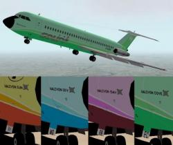 FS2000 Court Line Green Livery BAC 1-11 500