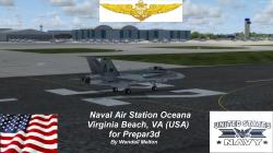 P3D Scenery--Naval Air Station Oceana KNTU