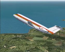 FS2004 Braniff BAC One-Eleven 203 Little Precious
