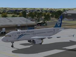 FS2004 Air New Zealand Airbus A320 ZK-OJA