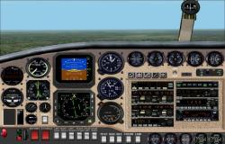 FS2002 Panel--Beechcraft Queen Air 65
