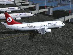 FS2004 Turkish Airlines Boeing 737-4Y0 TC-JET FFX/SGA