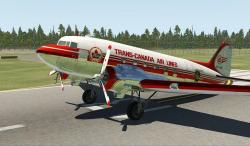 X-Plane 11/10 Trans-Canada Air Lines (Semi Polished) C-47/DC-3 1.0