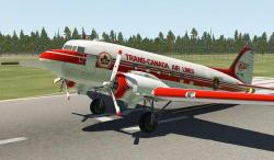 X-Plane 11/10 Trans-Canada Air Lines (Unpolished) C-47/DC-3 1.0
