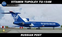 FS2004 Russian Post Tupolev Tu-154M - RA-85019